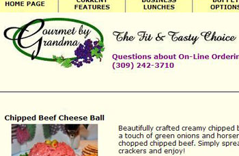 Gourmet by Grandma Website Image